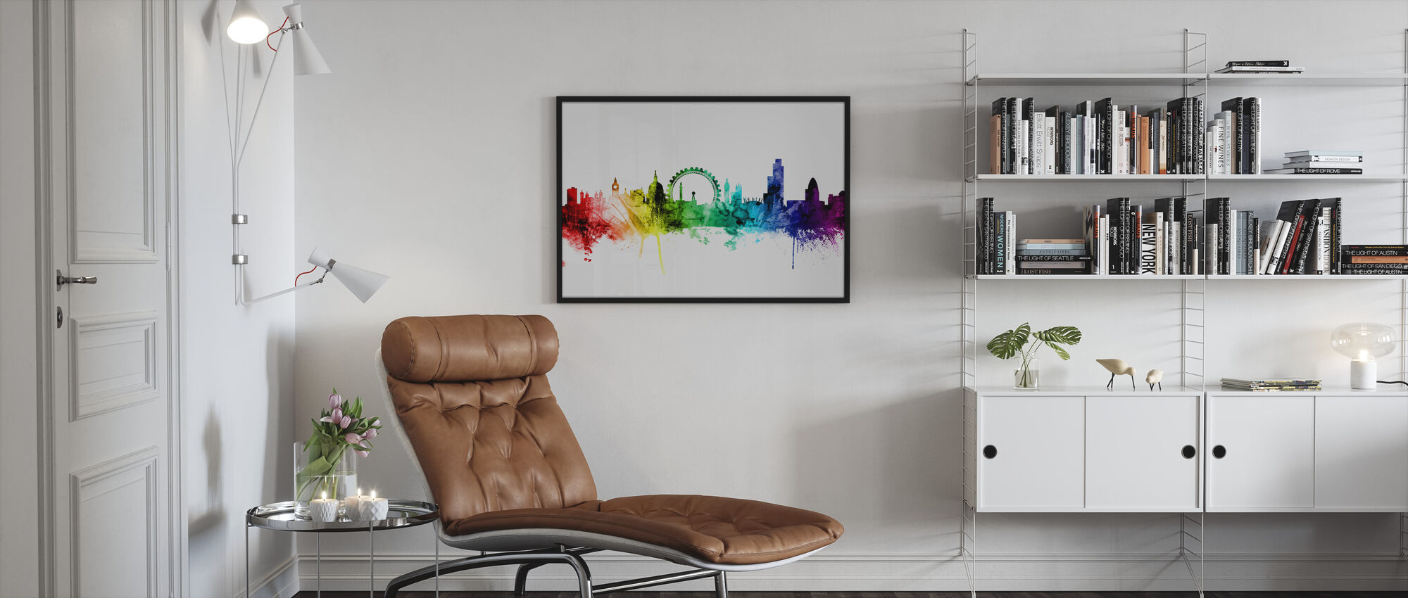 London Skyline Rainbow 2 - Framed print - Living Room