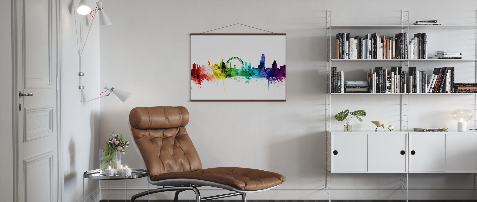 London Skyline Rainbow 2 - Poster - Vardagsrum