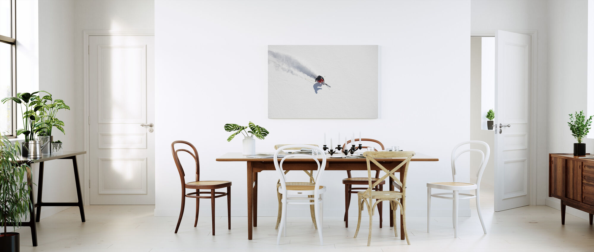 Skiing in Chamonix, France, Europe - Canvas print - Kitchen