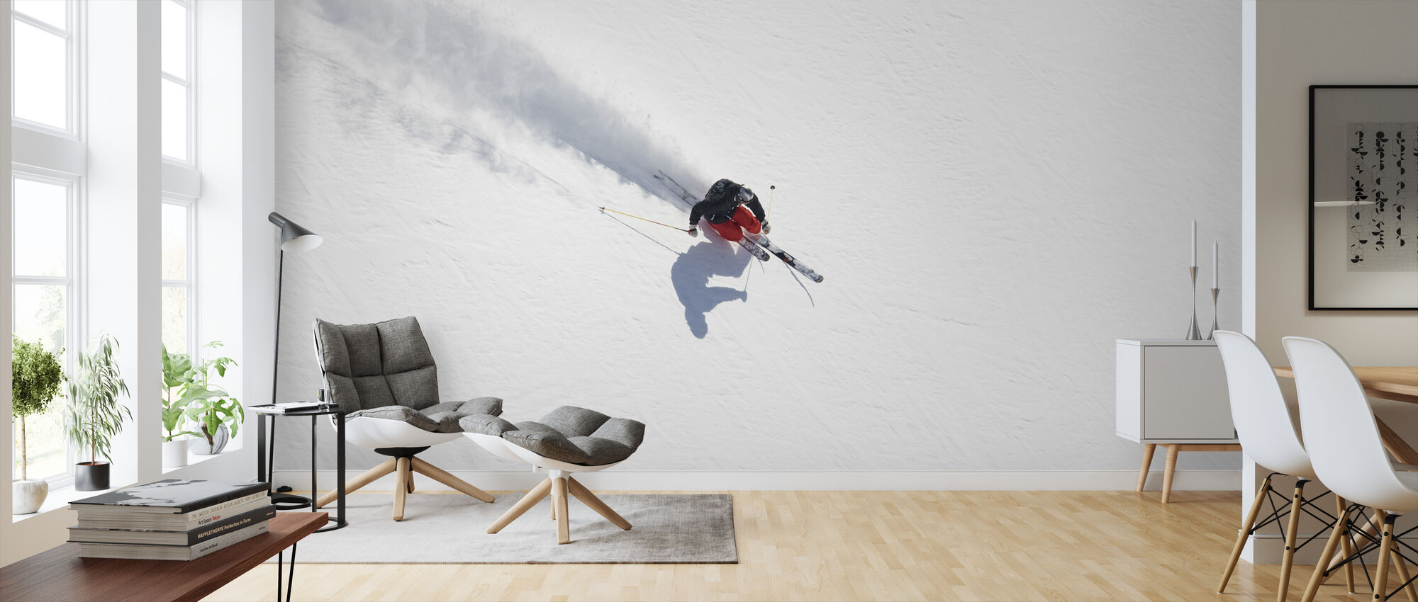 Skiing in Chamonix, France, Europe - Wallpaper - Living Room
