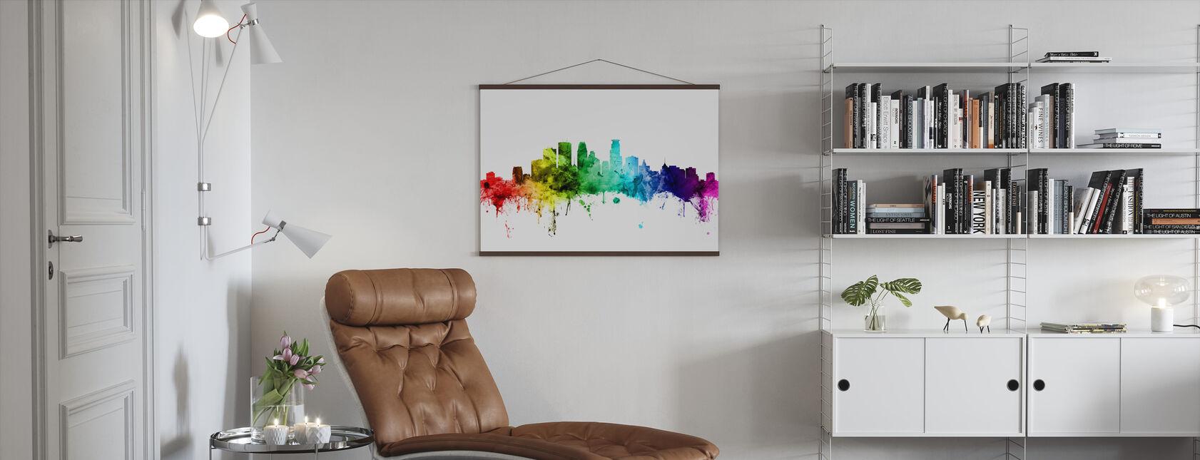 Minneapolis Minnesota Skyline Rainbow - Poster - Living Room