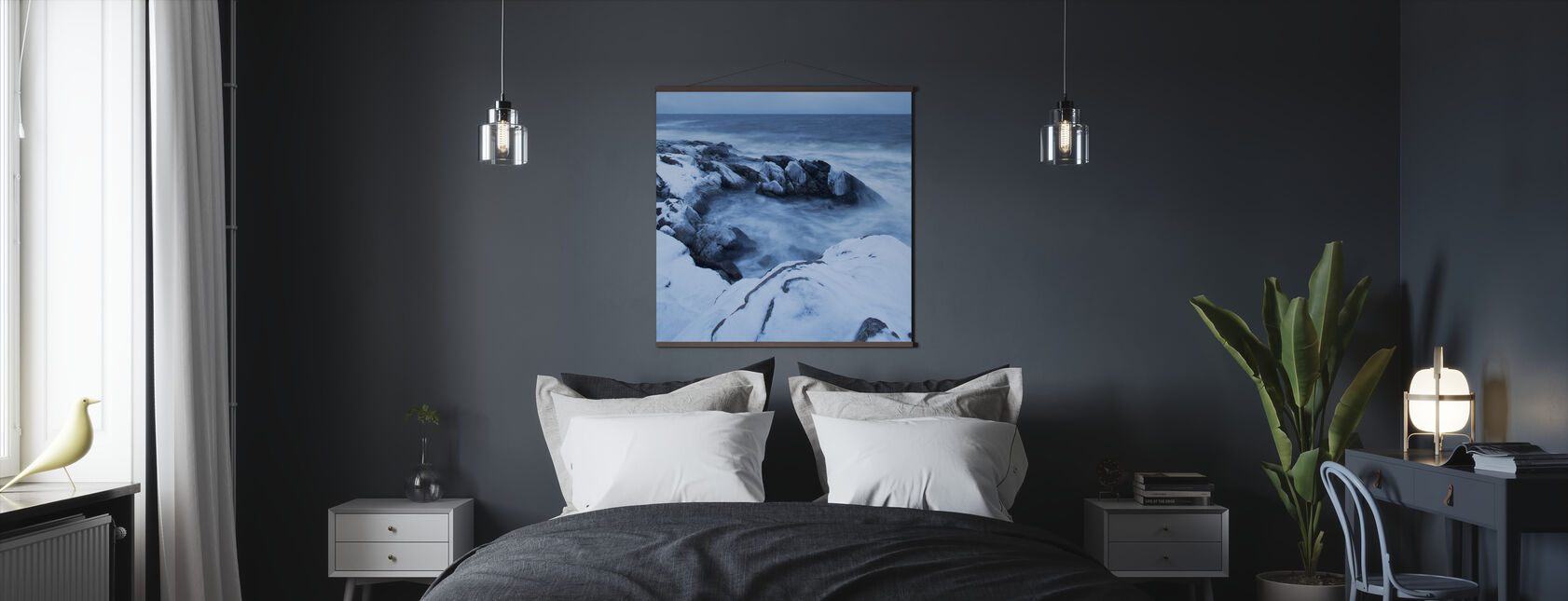 Stenshuvud in Winter Dress - Poster - Bedroom