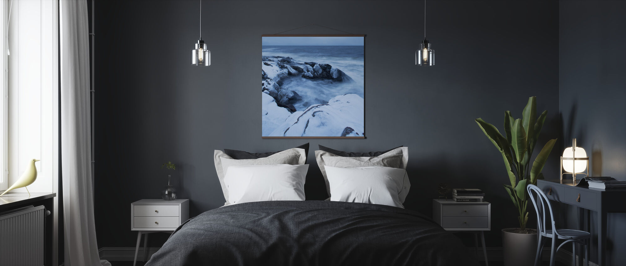 Stenshuvud in Winter Dress - Poster - Bedroom