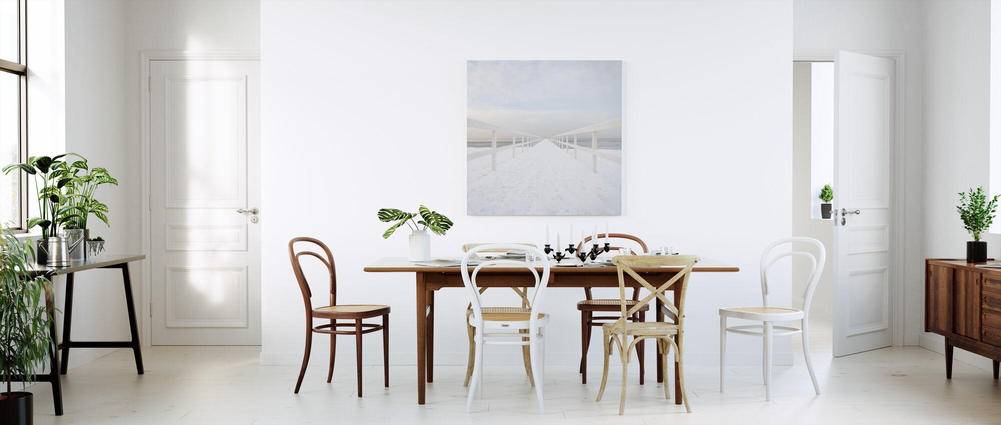 Winter Boardwalk, Suède - Impression sur toile - Cuisine