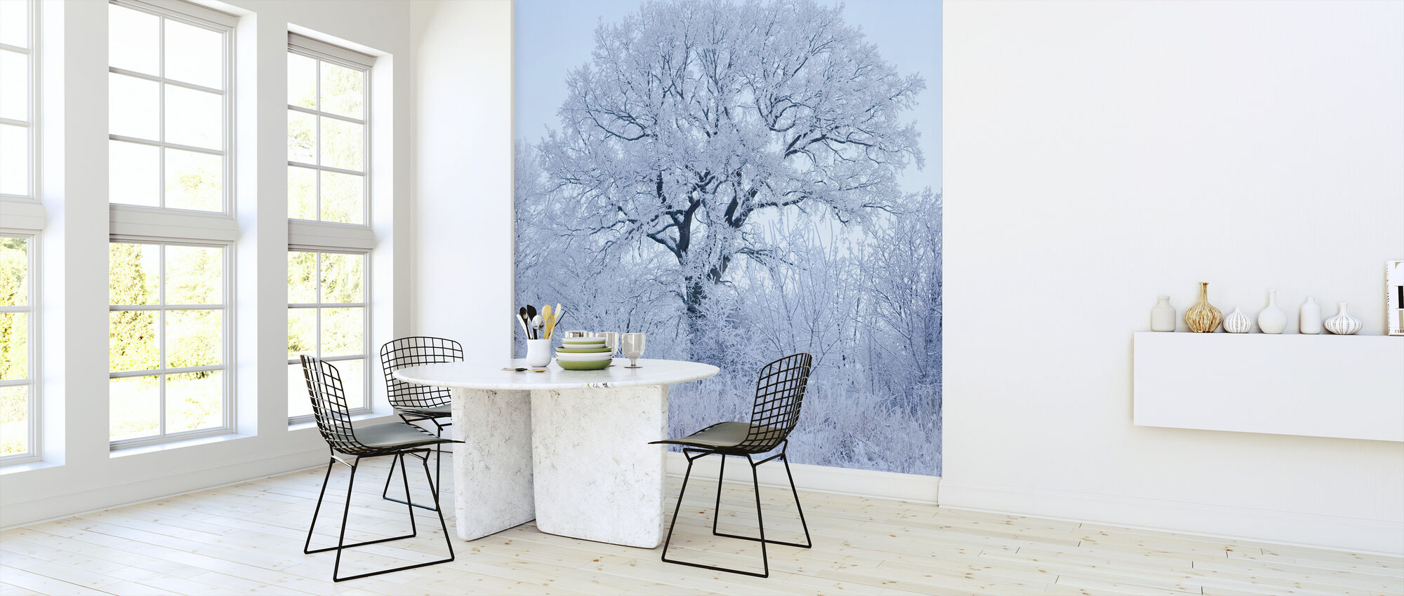 Winter Oak in Sweden - Wallpaper - Kitchen