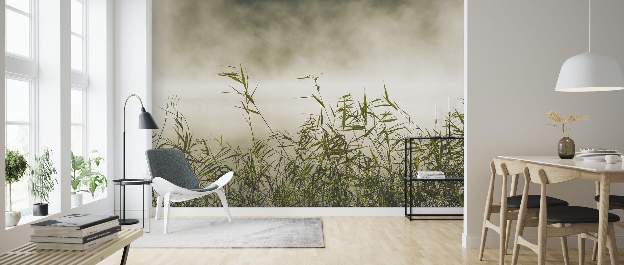 Yngaren in Fog, Sweden - Tapet - Vardagsrum