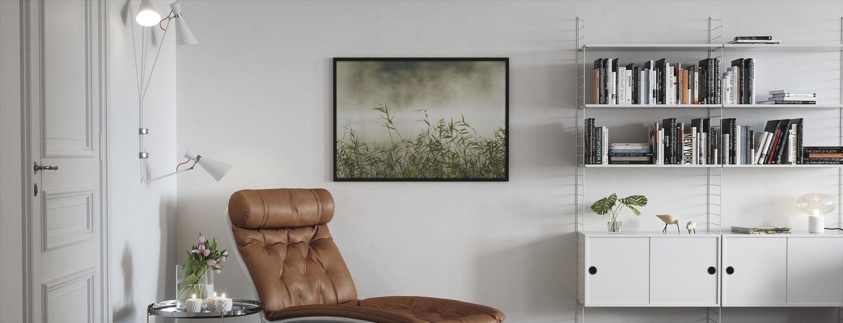 Yngaren in Fog, Sweden - Innrammet bilde - Stue