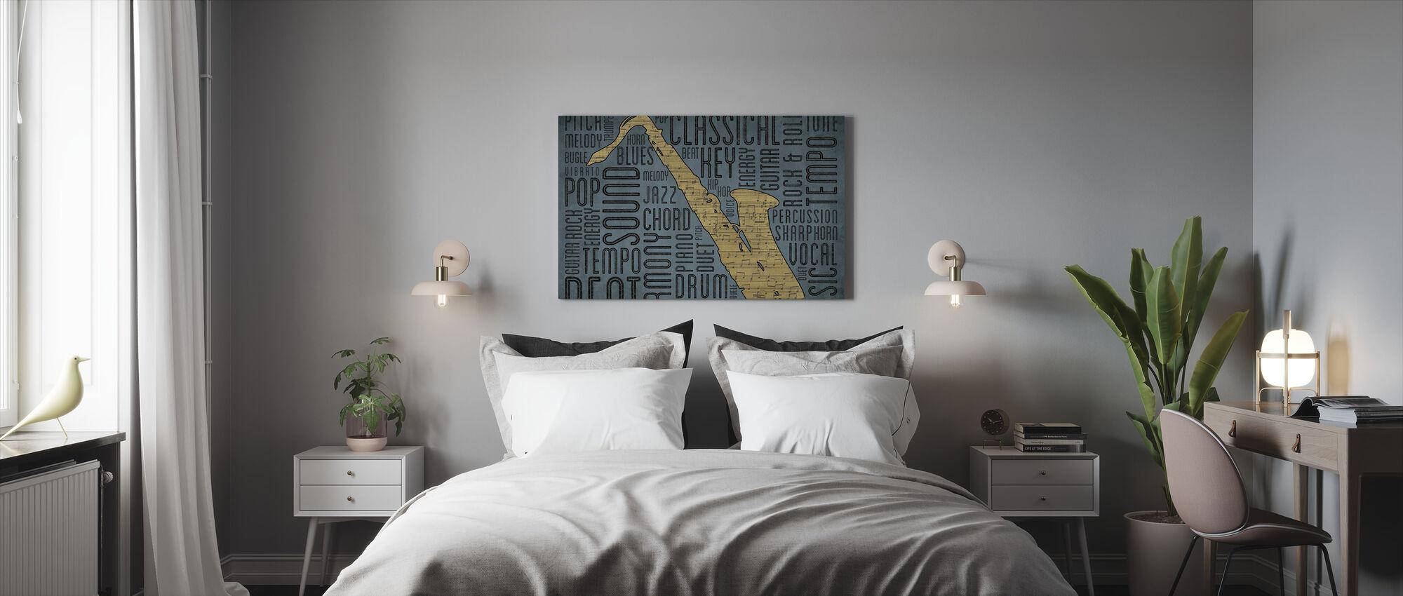 Saks - Billede på lærred - Soveværelse