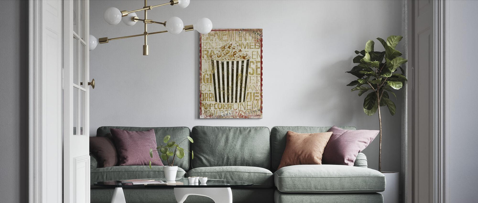 Cinema Popcorn - Canvas print - Woonkamer