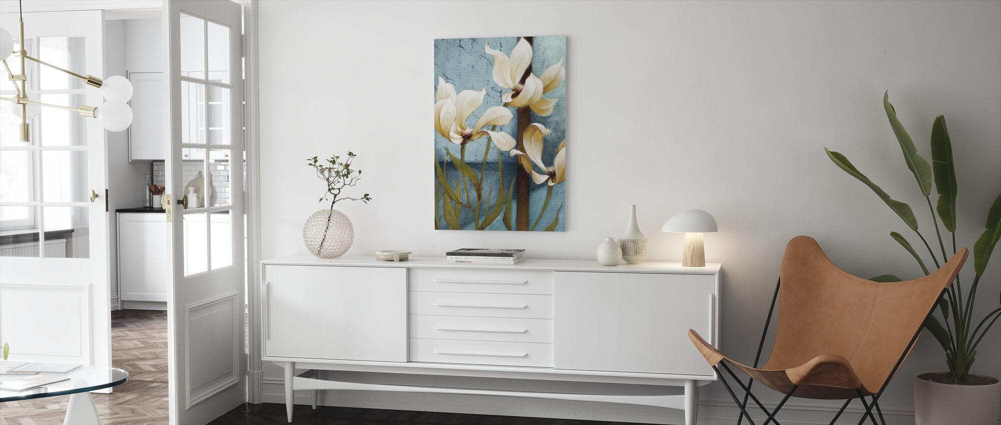 Magnolia Schilderij - Canvas print - Woonkamer