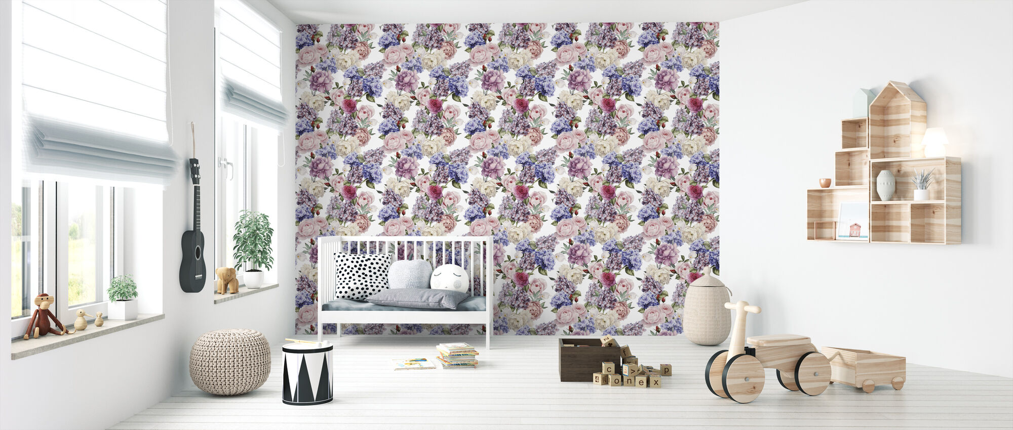 Endless Summer Pattern - Wallpaper - Nursery