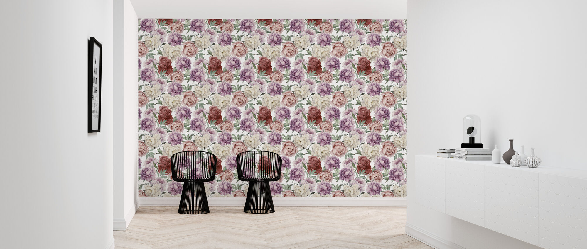 Sweet Peonies Pattern - Wallpaper - Hallway