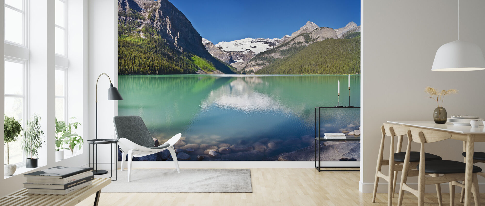 Lake Louise, Alberta, Canada, North America, Panorama - Wallpaper - Living Room
