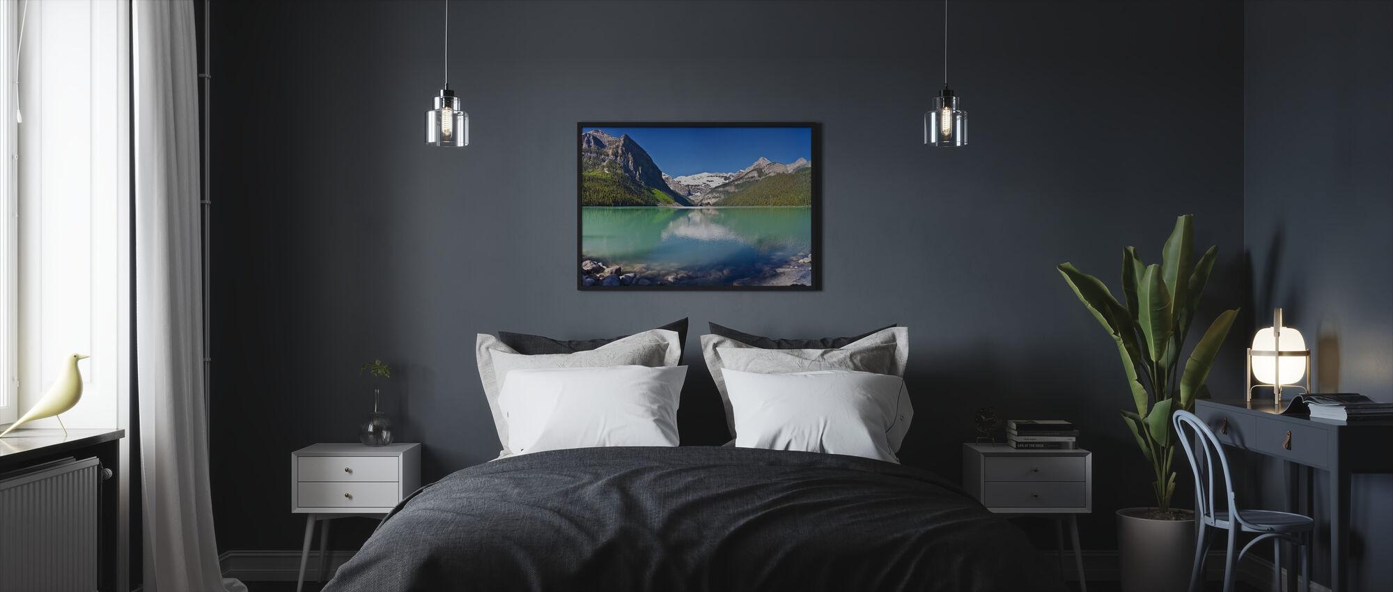 Lake Louise, Alberta, Canada, North America, Panorama - Framed print - Bedroom