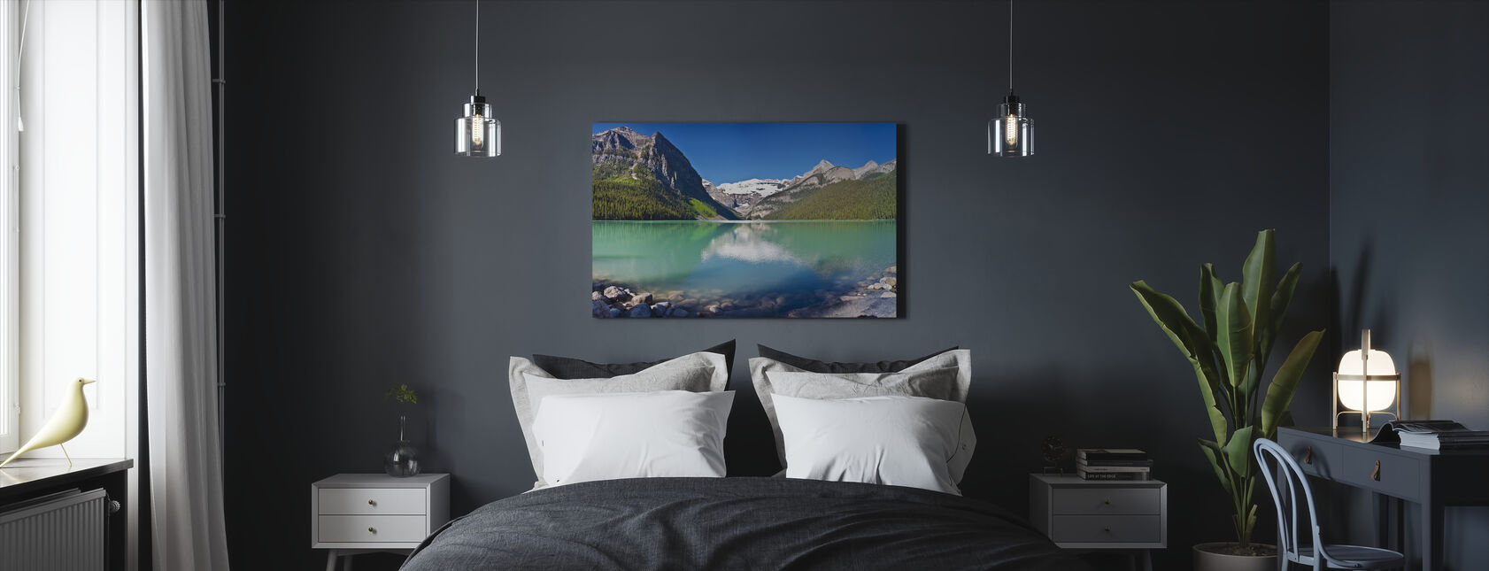 Lake Louise, Alberta, Canada, North America, Panorama - Canvas print - Bedroom