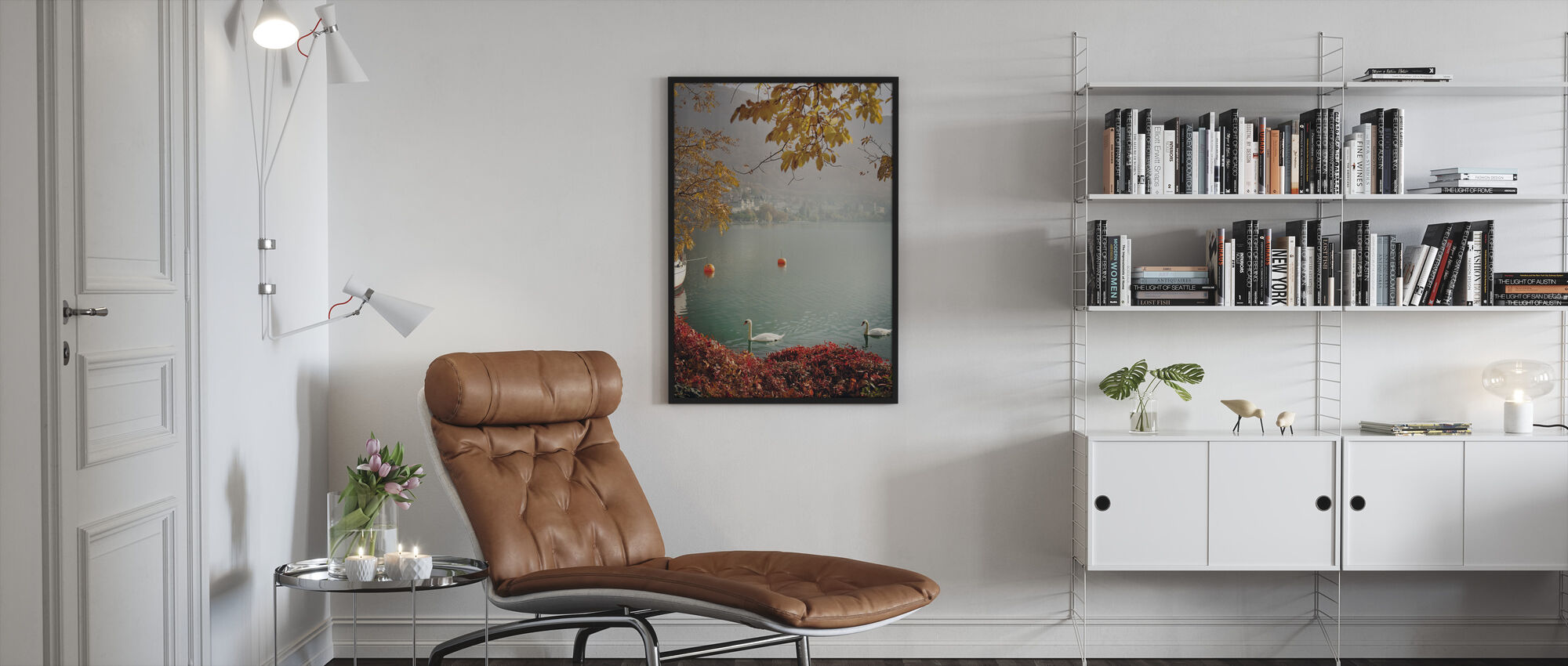 Autumn in Montreux, Switzerland, Europe - Framed print - Living Room