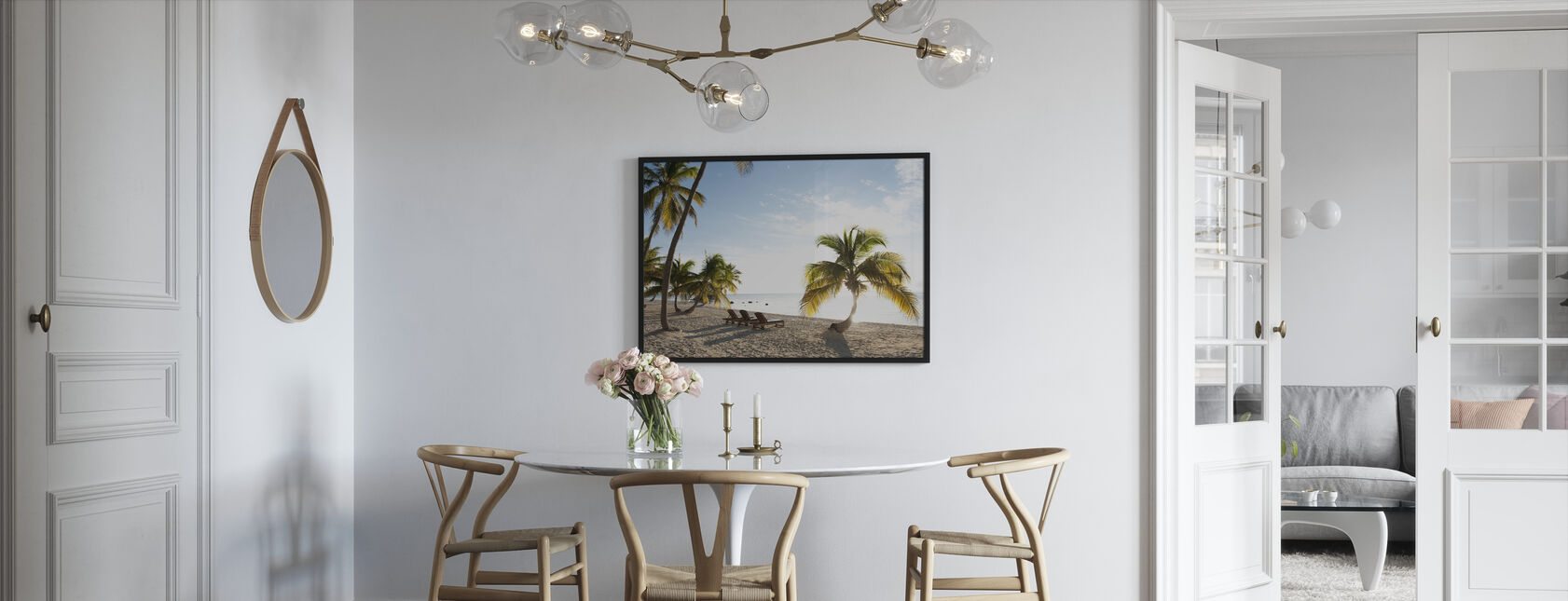 Beach in Islamorada in Florida Keys, USA - Framed print - Kitchen