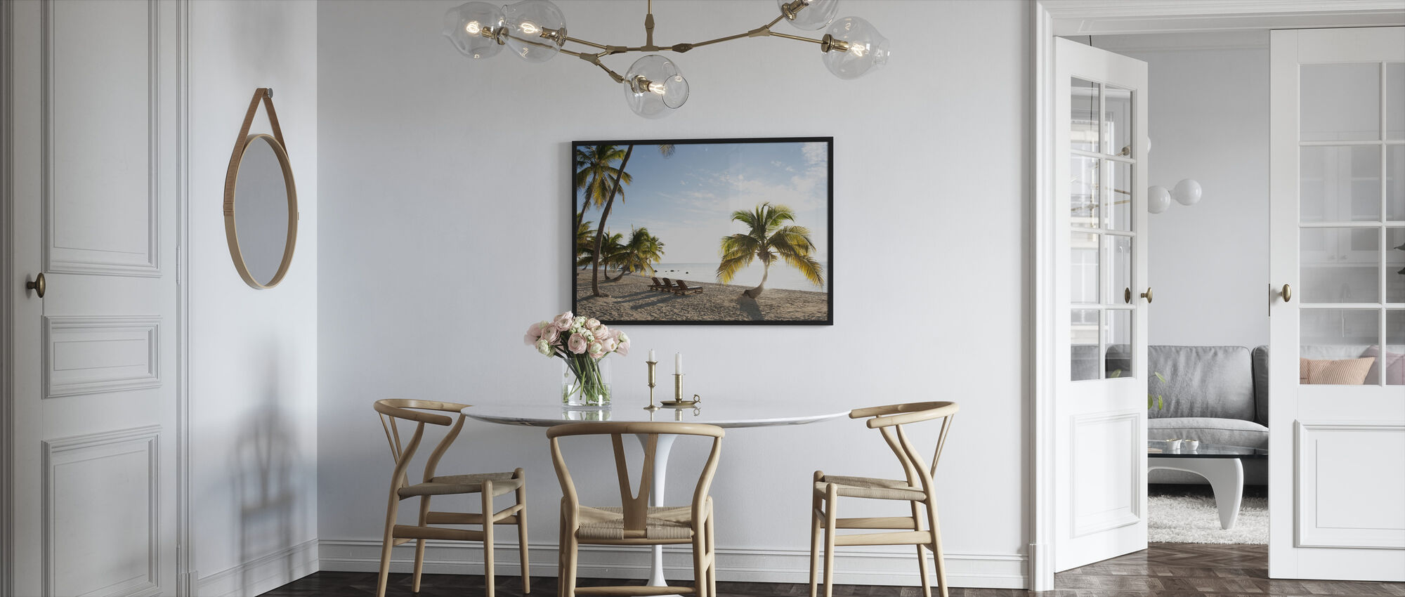 Beach in Islamorada in Florida Keys, USA - Framed print - Kitchen