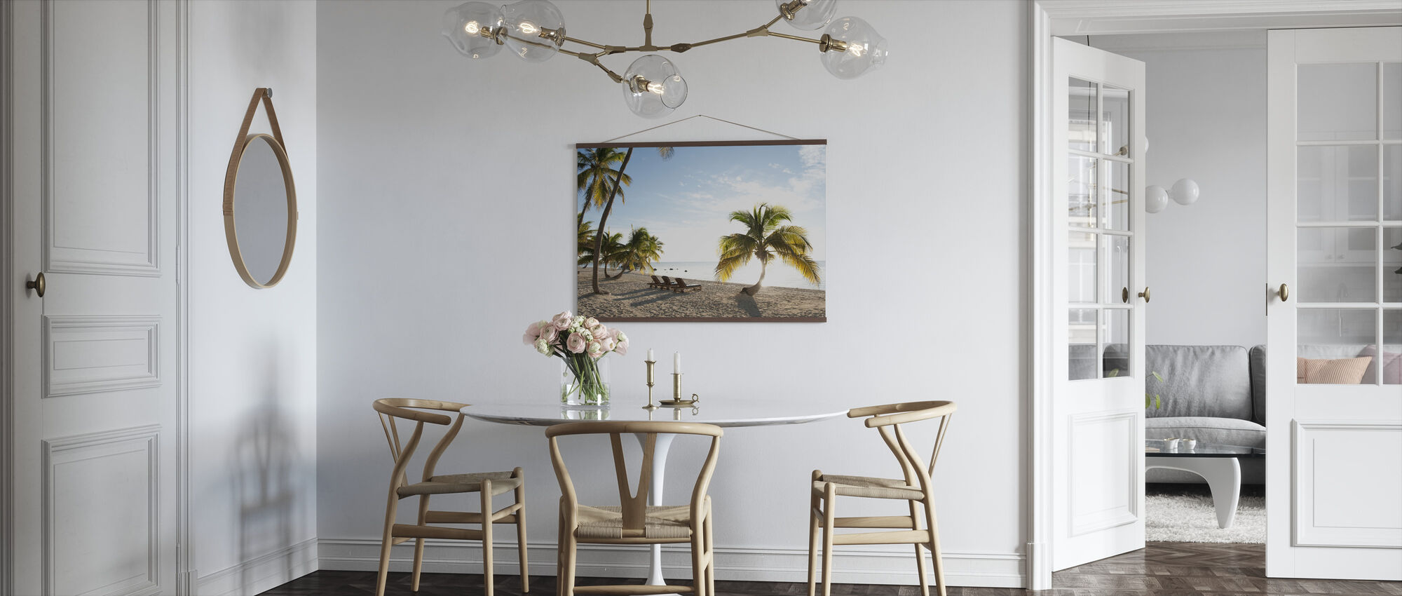 Beach in Islamorada in Florida Keys, USA - Poster - Kitchen