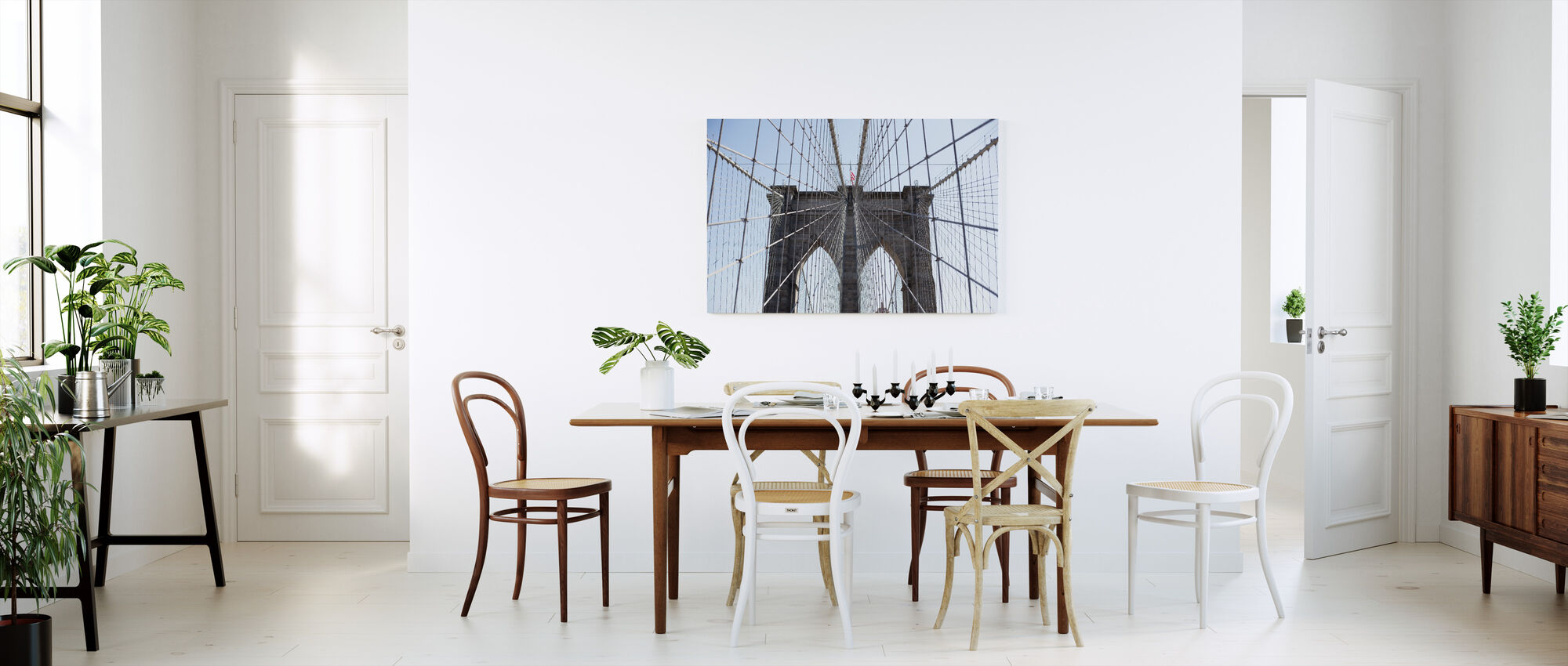 Brooklyn Bridge American Flag - Canvas print - Kitchen