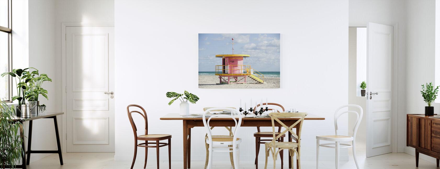 Lifeguard Tower in Miami, USA - Canvas print - Kitchen