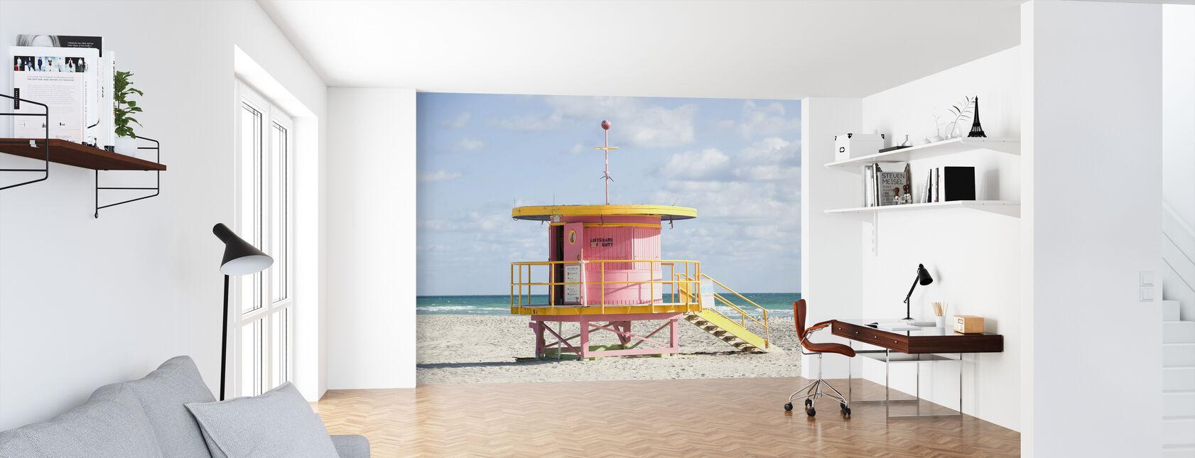 Rettungsschwimmer Tower in Miami, USA - Tapete - Büro