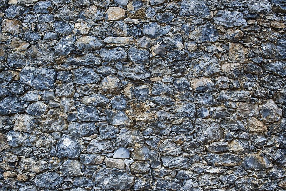 Blue Stone Wall Fototapeter & Tapeter 100 x 100 cm