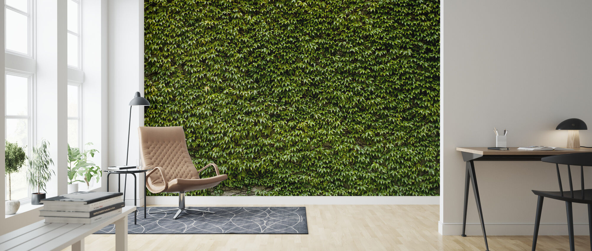 Wild Ivy Wall - Wallpaper - Living Room