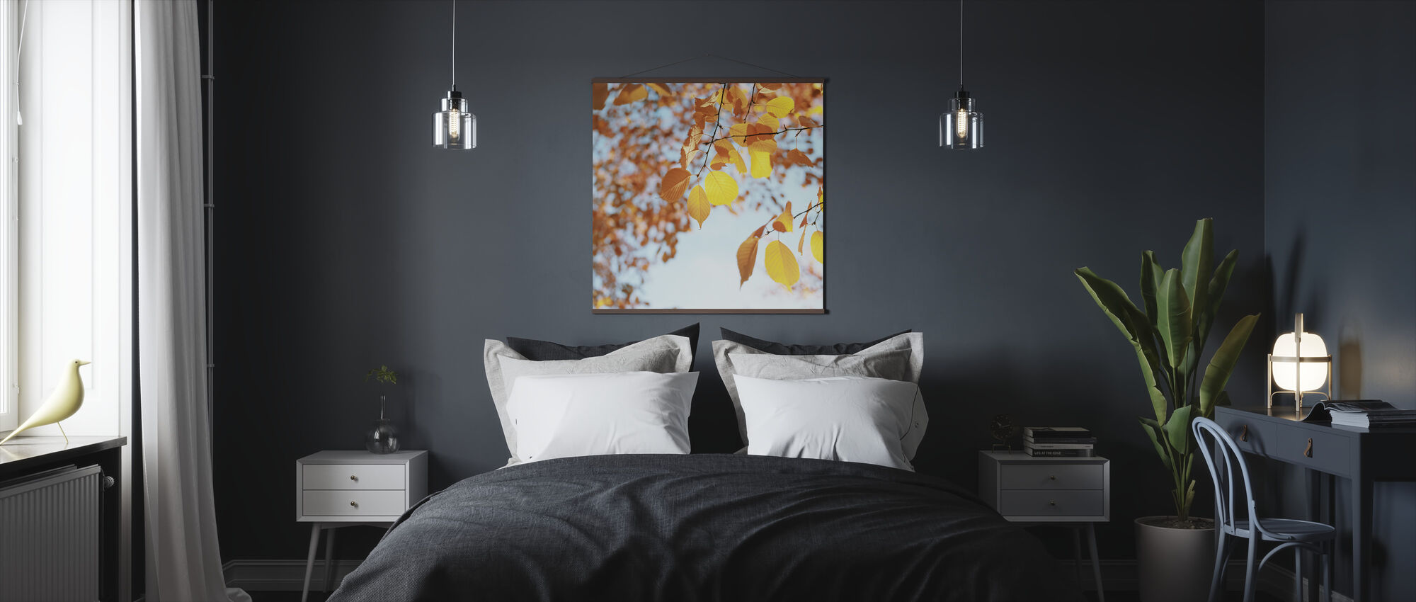 Autumn Leaves in the Sky - Poster - Bedroom