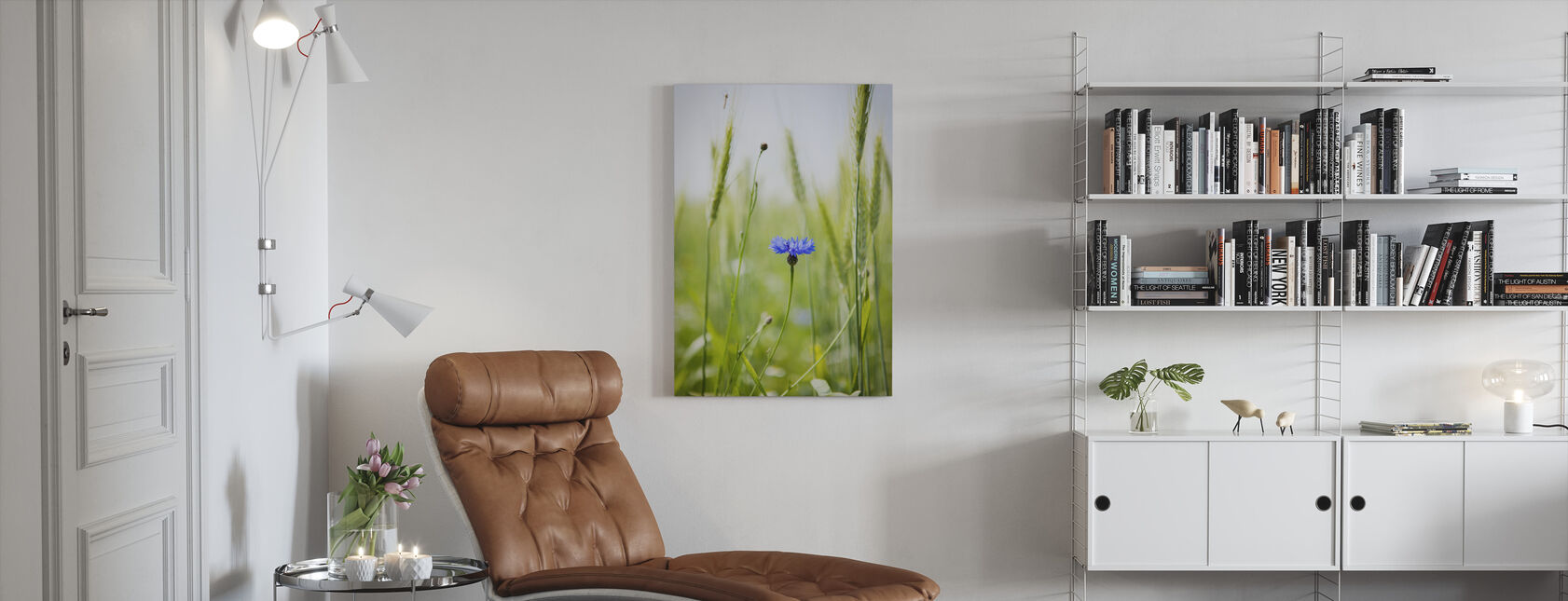 Cornflower - Canvas print - Living Room