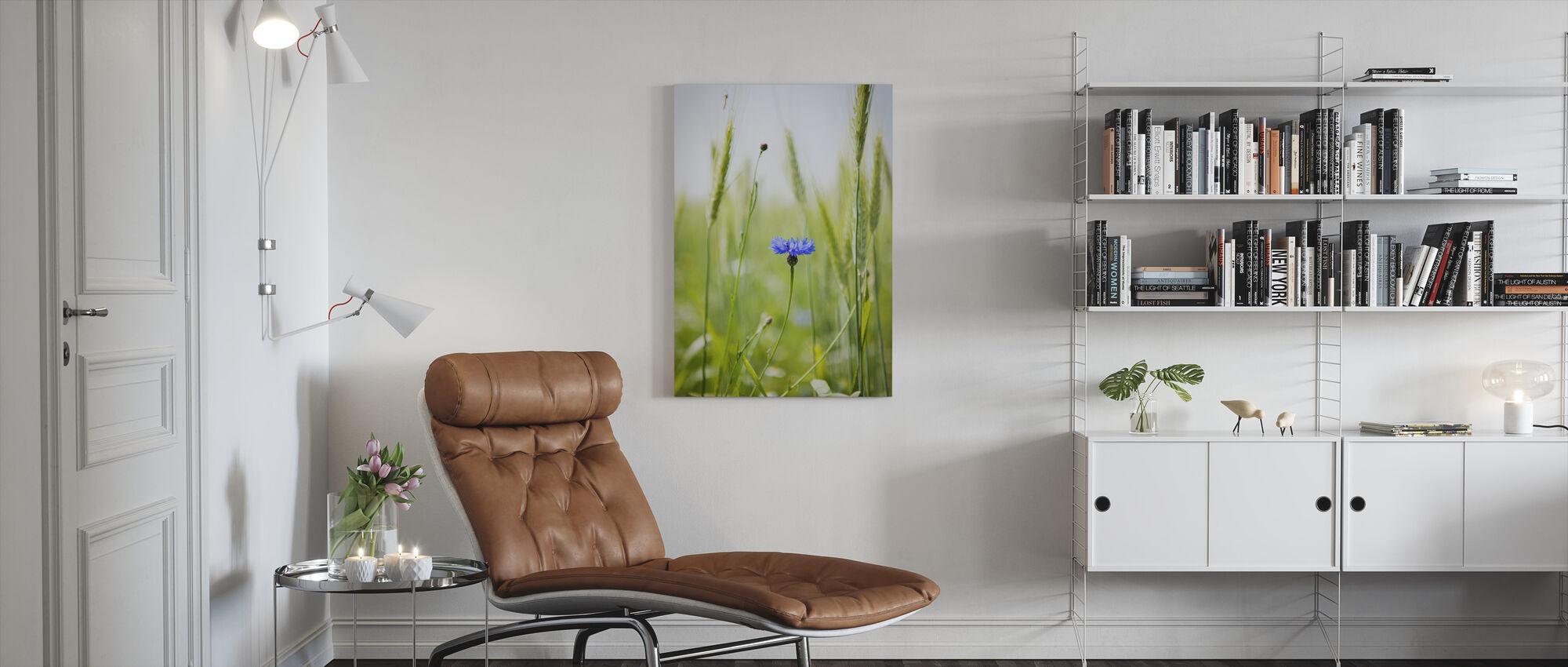 Cornflower - Canvas print - Living Room