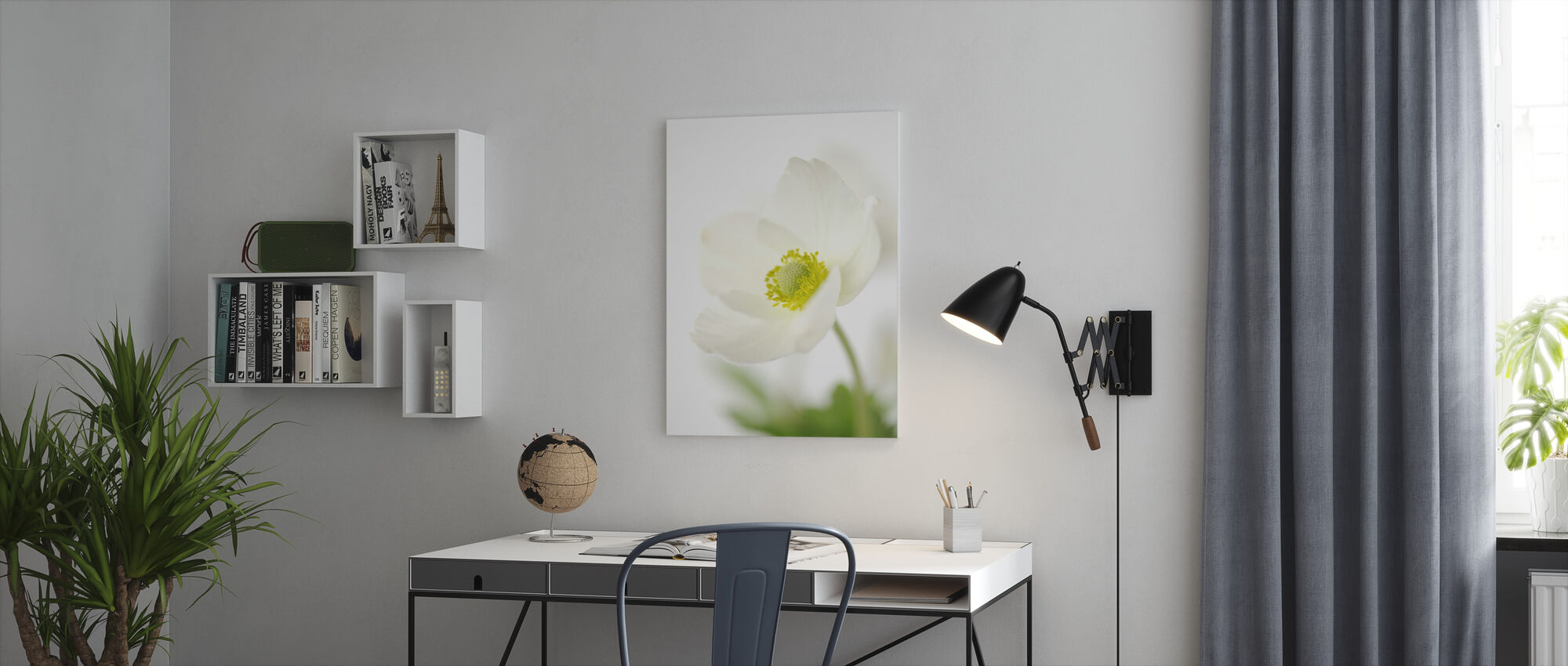 Delicate Flower - Canvas print - Office