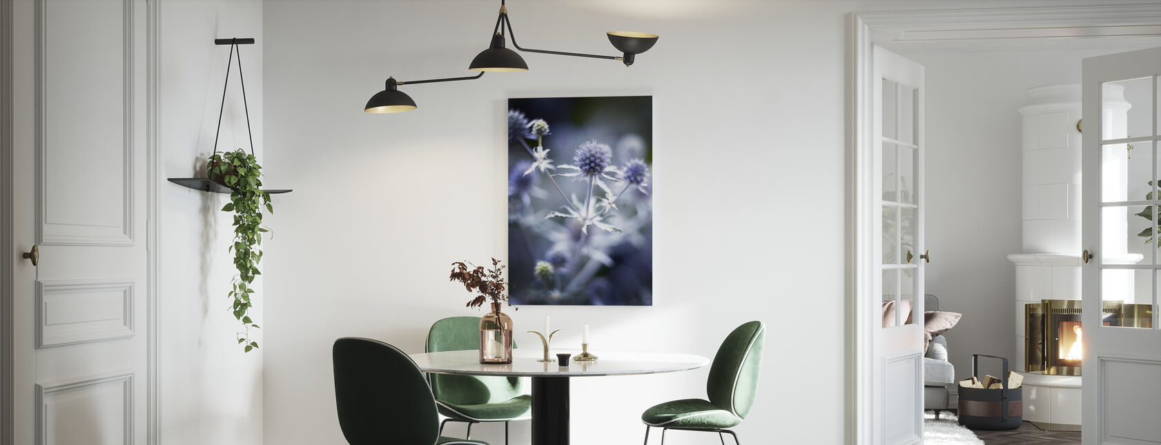 Eryngium Planum Thistle - Canvas print - Kitchen