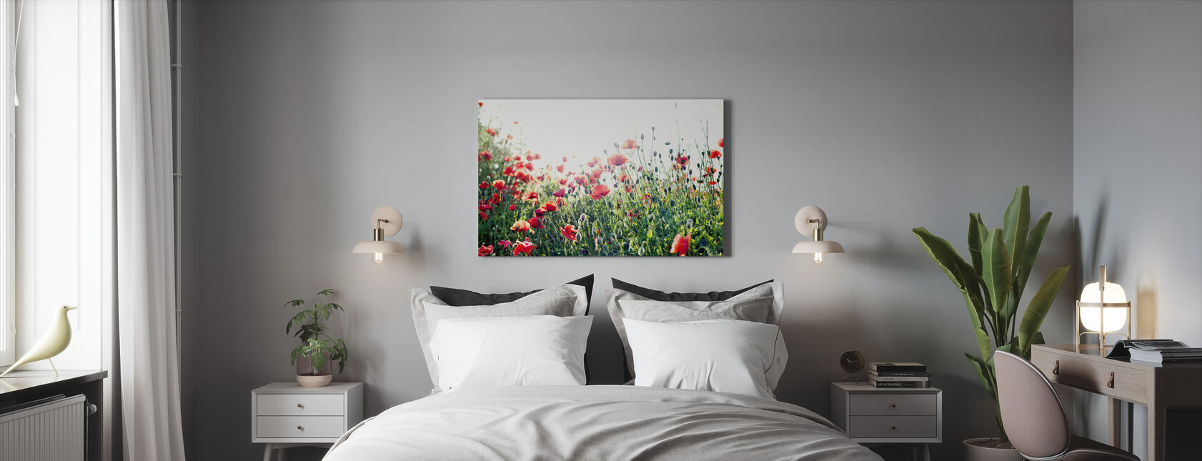 Gotland Poppies - Canvas print - Bedroom