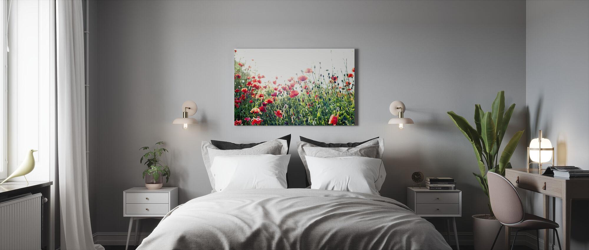 Gotland Valmuer - Billede på lærred - Soveværelse