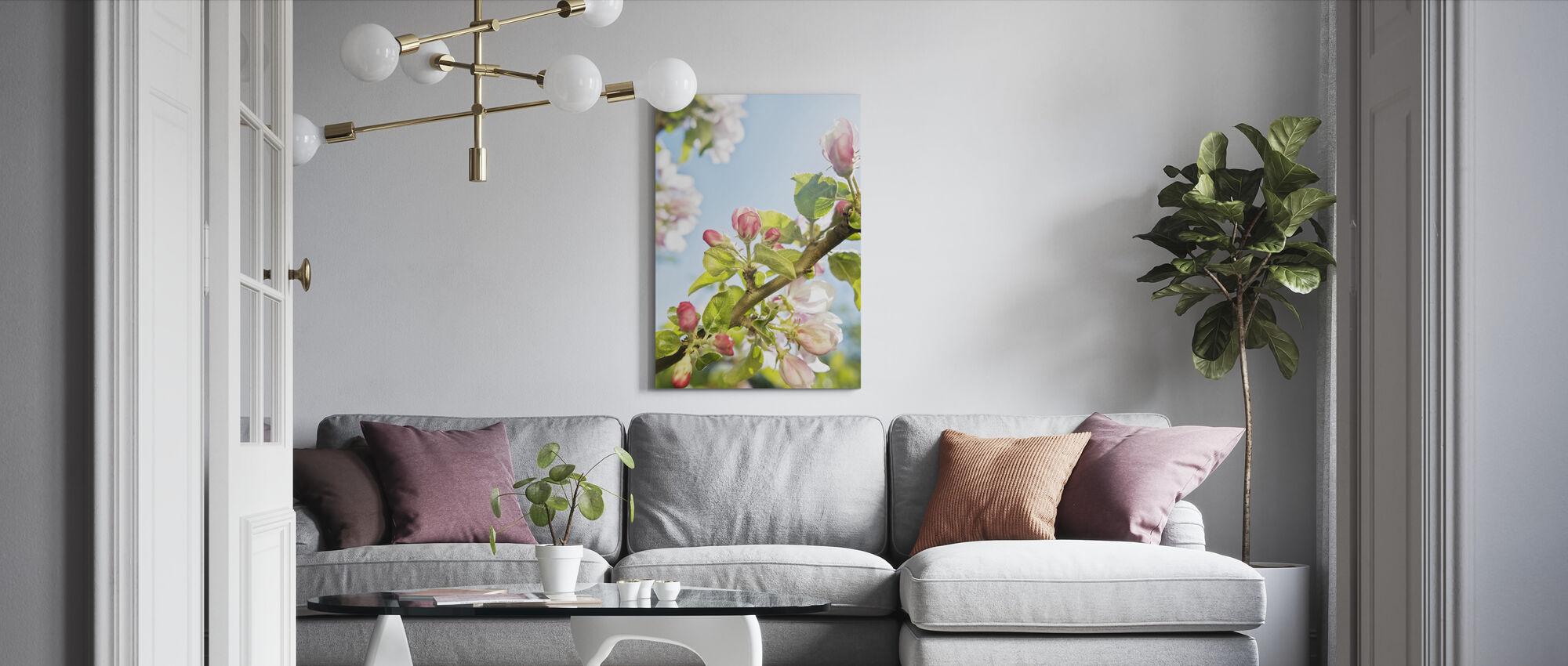 Green Cherry Blossom - Canvas print - Living Room