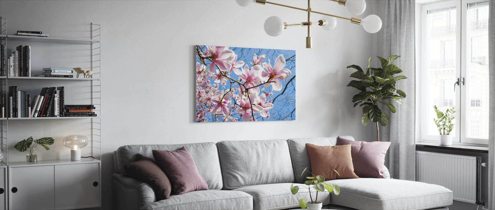Manhattan Magnolia - Canvas print - Living Room