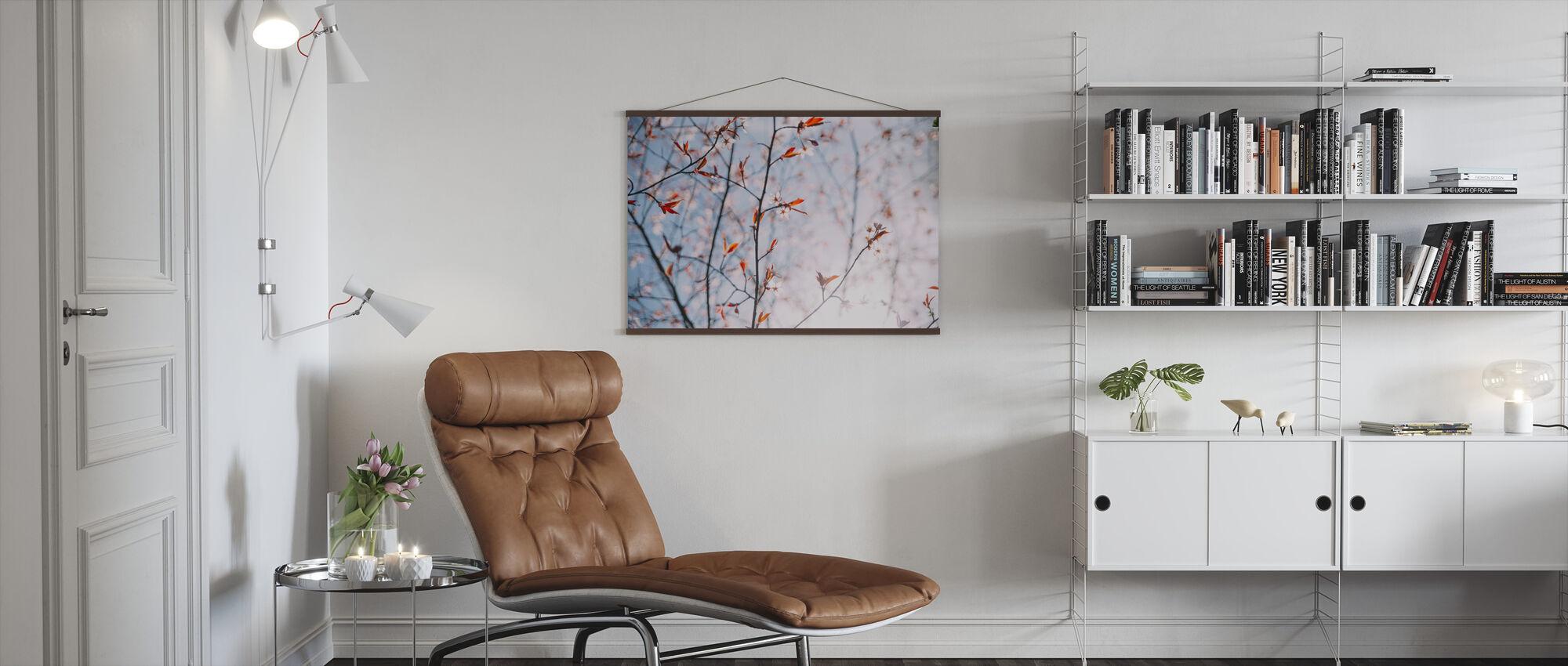 Nordic Light Cherry Blossom - Poster - Living Room