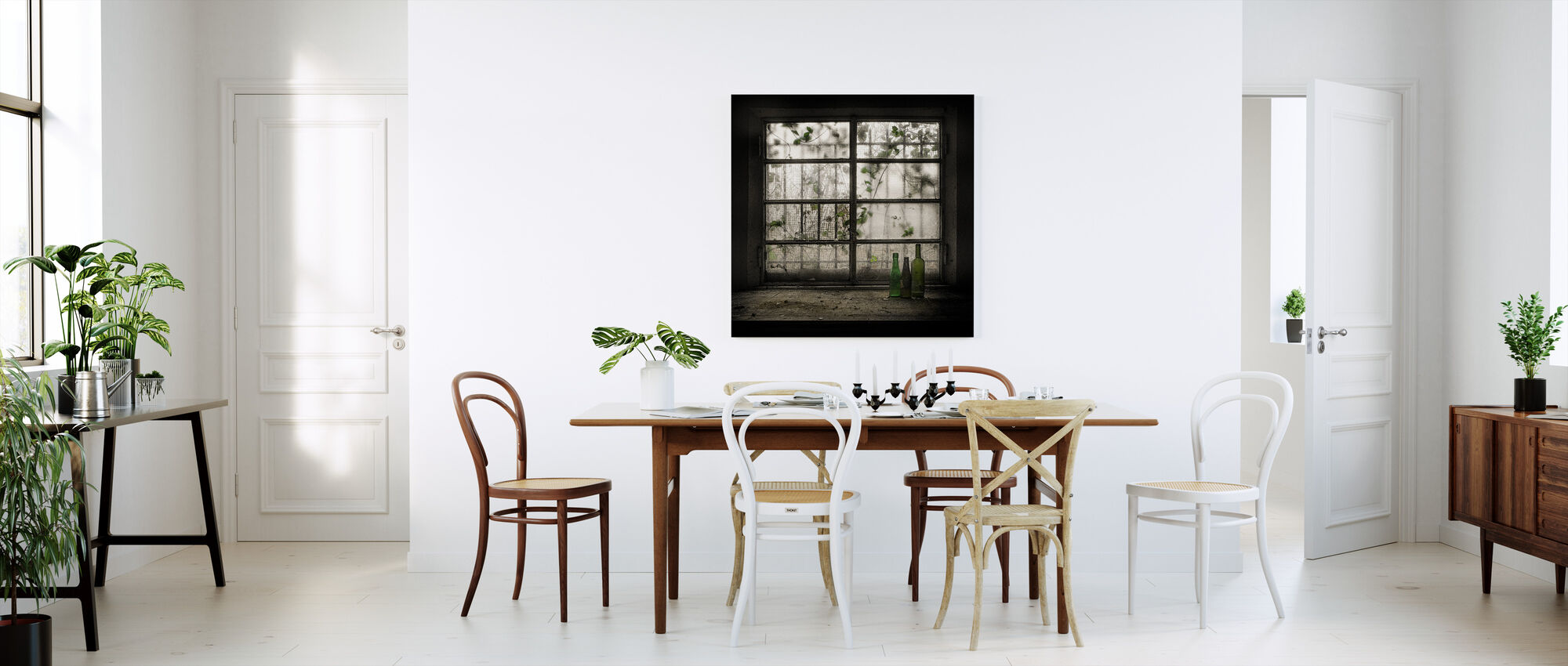 Looking Outside Old Window - Canvas print - Kitchen
