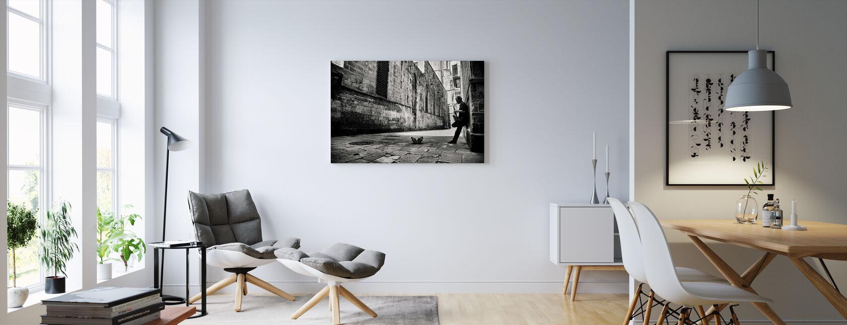 Silent Street, zwart-wit - Canvas print - Woonkamer