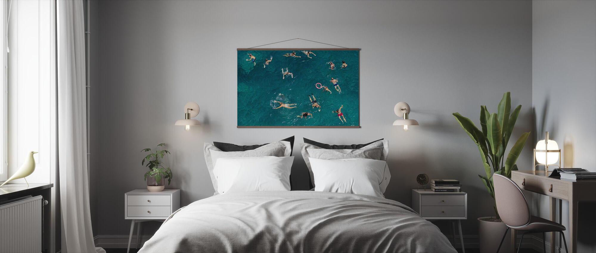 Swimming in Puglia Beach, Italy, Europe - Poster - Bedroom