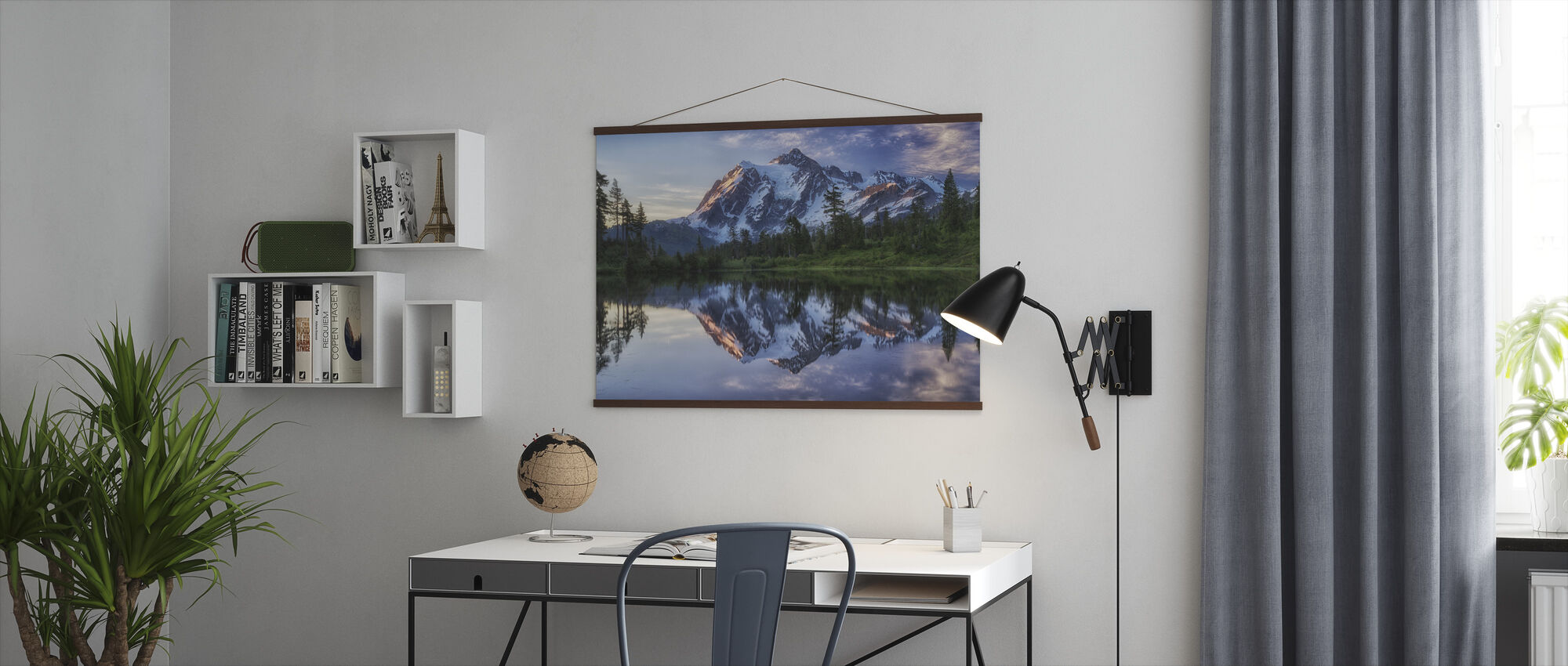 Sunrise on Mount Shuksan, Washington, USA - Poster - Office