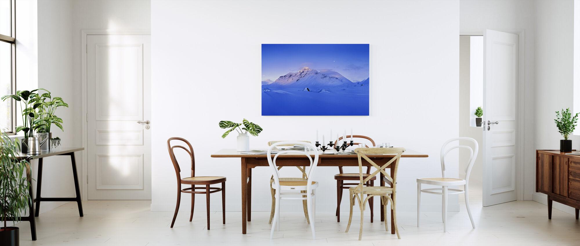 Blå afton i Sarek, Sverige, Europa - Canvastavla - Kök