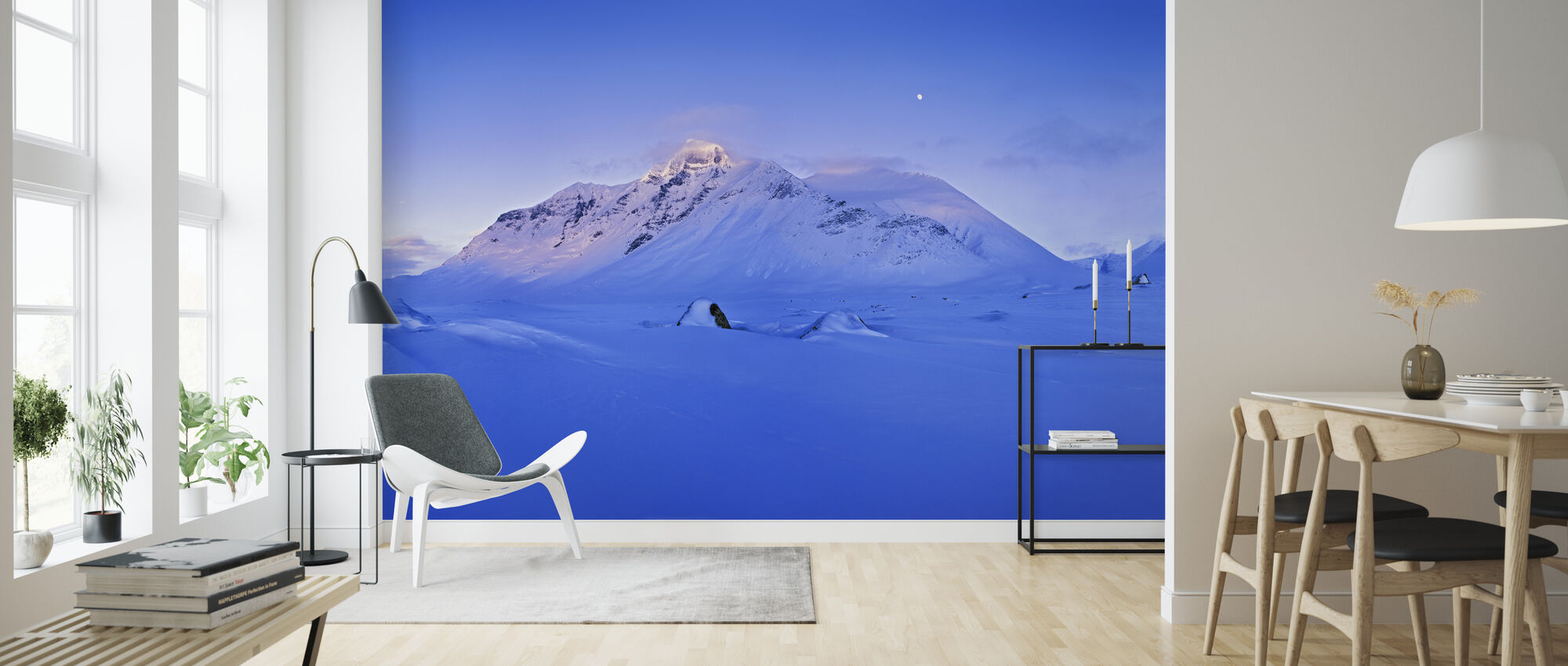 Blue Evening in Sarek, Sweden, Europe - Wallpaper - Living Room