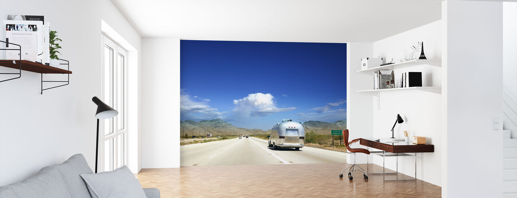 Wohnwagen in Nevada, USA - Tapete - Büro