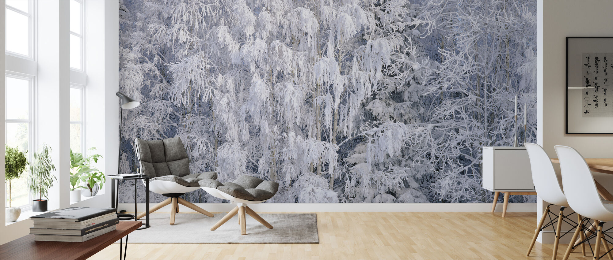 Ice Trees of Salem, Oregon, USA - Wallpaper - Living Room