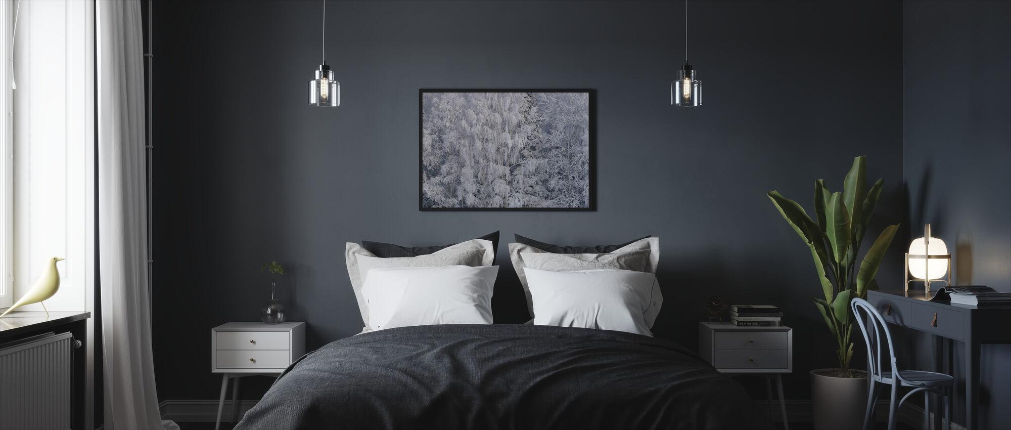 Ijsbomen of Salem, Oregon, Verenigde Staten - Ingelijste print - Slaapkamer