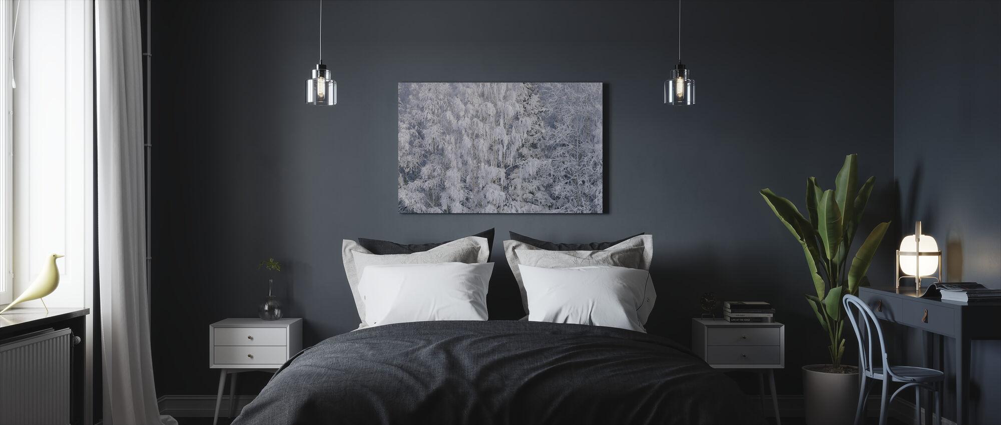 Ice Trees of Salem, Oregon, USA - Canvas print - Bedroom