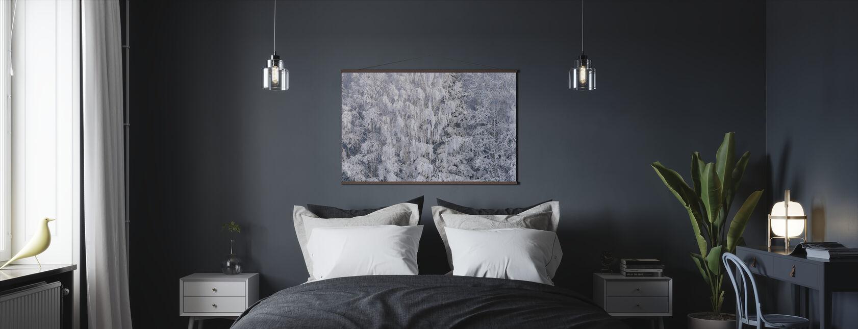 Ice Trees of Salem, Oregon, USA - Poster - Bedroom