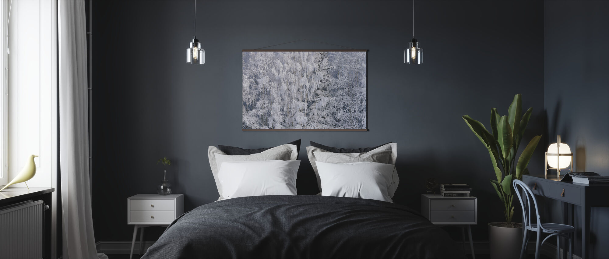Ice Trees of Salem, Oregon, USA - Poster - Bedroom